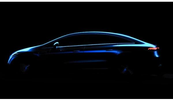 Mercedes-Benz EQS sedan foreshadowed in a streamlined silhouette